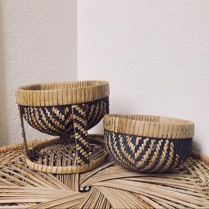 Vintage Patterned Basket Set